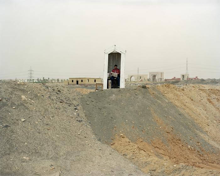 Guard, El Shorouk city, April 2011